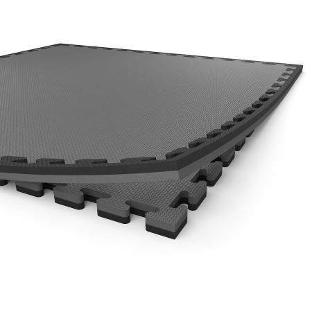 Grey/Black Boxing mat edging strips